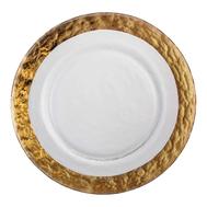 Тарелка закусочная Gold Eisch Colombo, прозрачная/золотой, 20,5 см - арт.44051581, фото 1
