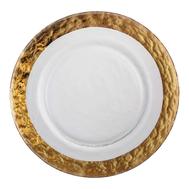 Тарелка обеденная Gold Eisch Colombo, прозрачная/золотой, 28 см - арт.44051582, фото 1