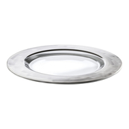 Тарелка сервировочная Eisch Puro, прозрачная/серебро, 35 см - арт.73751635, фото 1