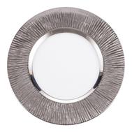 Тарелка сервировочная Platin Eisch Ravi, прозрачная/платина, 35 см - арт.75851635, фото 1