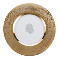 Тарелка сервировочная Gold Eisch Silas, прозрачная/золото, 35 см - арт.76151635, фото 1