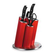 Набор кухонных ножей Wesco Asia Knife Style, 5 предметов, в красной подставке - арт.322631-02, фото 1