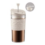 Кофейник с прессом Bodum Travel, дорожный, белый, с дополнительной крышкой, 0,35 л - арт.K11102-913, фото 1