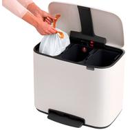 Контейнер для мусора с педалью Brabantia Bo Pedal Bin, белый, 3 х 11 л - арт.121005, фото 1
