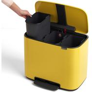Контейнер для мусора с педалью Brabantia Bo Pedal Bin, желтый, 3 х 11 л - арт.121043, фото 1