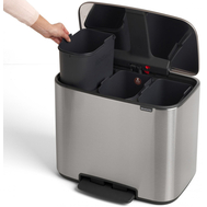 Контейнер для мусора с педалью Brabantia Bo Pedal Bin, стальной, 3 х 11 л - арт.121128, фото 1