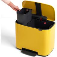Ведро для мусора с педалью Brabantia Bo Pedal Bin, желтое, 11 + 23 л - арт.121180, фото 1