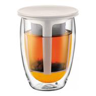 Стакан Bodum Tea For One, с фильтром, белый, 0,35 л - арт.K11153-913, фото 1