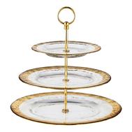 Этажерка для фруктов Gold Eisch Colombo, прозрачная/золотой, 35 см - арт.44051589, фото 1