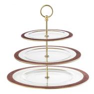 Многоярусная подставка Rosegold Eisch Gold Rush, прозрачная/розовое золото, 36 см - арт.74451603, фото 1