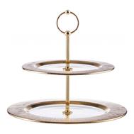 Этажерка для фруктов Gold Eisch Ravi, прозрачная/золото, 28,5 см - арт.75751602, фото 1