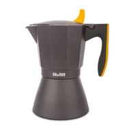 Кофеварка гейзерная Ibili Sensive, черная с оранжевой ручкой, на 9 чашек - арт.622209, фото 1
