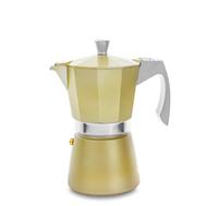 Кофеварка гейзерная Ibili Evva, золотая, на 6 чашек - арт.623906, фото 1