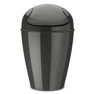 Контейнер для мусора Koziol Del M, для ванной и туалета, темно-серый, 12л - арт.5775665, фото 1