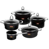 Набор посуды Kochstar Metallica Onyx Premium, эмалированная сталь, темно-серый - 5 предметов - арт.ONYX-3, фото 1