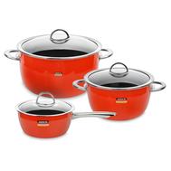Набор посуды Kochstar Neo Orange Ultra Premium, эмалированная сталь, оранжевый - 3 предмета - арт.ORANGE-1, фото 1