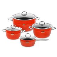 Набор посуды Kochstar Neo Orange Ultra Premium, эмалированная сталь, оранжевый - 4 предмета - арт.ORANGE-2, фото 1
