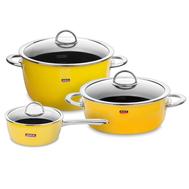 Набор посуды Kochstar Neo Yellow Ultra Premium, эмалированная сталь, желтый - 3 предмета - арт.YELLOW-1, фото 1