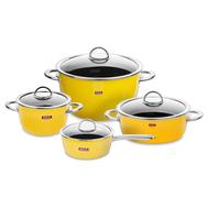 Набор посуды Kochstar Neo Yellow Ultra Premium, эмалированная сталь, желтый - 4 предмета - арт.YELLOW-2, фото 1