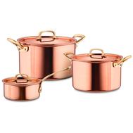 Набор посуды Ruffoni Gustibus, медь с нержавеющим покрытием - 3 предмета - арт.GUSTIBUS-3, фото 1