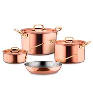 Набор посуды Ruffoni Gustibus, медь с нержавеющим покрытием - 4 предмета - арт.GUSTIBUS-4, фото 1