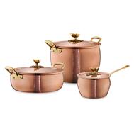 Набор посуды Ruffoni Historia decor, луженая медь - 3 предмета - арт.HISTORIA-3, фото 1