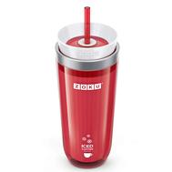 Охлаждающий стакан Zoku Iced Coffee Maker, с крышкой и трубочкой, красный, 325мл - арт.ZK121-RD, фото 1