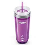 Охлаждающий стакан Zoku Iced Coffee Maker, с крышкой и трубочкой, фиолетовый, 325мл - арт.ZK121-PU, фото 1