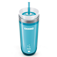 Охлаждающий стакан Zoku Iced Coffee Maker, с крышкой и трубочкой, голубой, 325мл - арт.ZK121-TL, фото 1