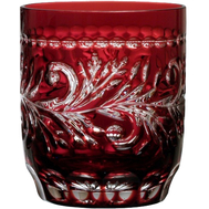 Стакан низкий Ajka Crystal Monica 360мл, бордовый, хрусталь - арт.1/88582/49252/46404, фото 1
