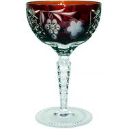 Бокал хрустальный Ajka Crystal Grape, 210мл, бордовый - арт.1/darkruby/64576/51380/48359, фото 1
