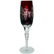 Бокал для шампанского Ajka Crystal Grape 180мл, бордовый, цветной хрусталь - арт.1/darkruby/64582/51380/48359, фото 1