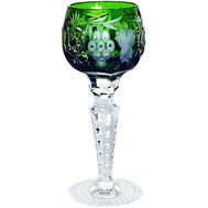Рюмка хрустальная Ajka Crystal Grape, 60мл, зеленая - арт.1/emerald/64575/51380/48359, фото 1