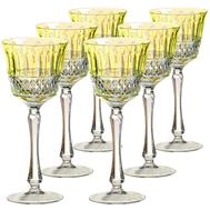Винные бокалы Ajka Crystal St.Louis, 220мл - 6шт, желтые - арт.10413/47127/40371, фото 1