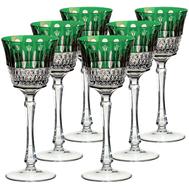 Бокалы для вина Ajka Crystal St.Louis, 220мл - 6шт, зеленые - арт.15738/47127/40371, фото 1