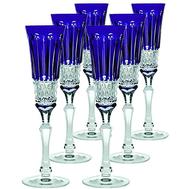 Набор бокалов для шампанского Ajka Crystal St.Louis 120мл - 6шт, синие - арт.15907/47127/40371, фото 1