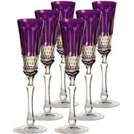 Бокалы для шампанского Ajka Crystal St.Louis, 120мл - 6шт, фиолетовые - арт.15909/47127/40371, фото 1