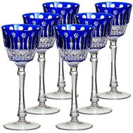 Набор рюмок Ajka Crystal St.Louis, 70мл - 6шт, синие - арт.16229/47127/40371, фото 1