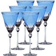 Набор бокалов Ajka Crystal Heaven Blue, 230мл - 6шт, голубые - арт.64101/51218/48214, фото 1