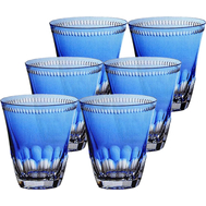 Набор стаканов Ajka Crystal Heaven Blue, 300мл - 6шт, голубые - арт.64113/51218/48214, фото 1