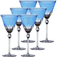 Рюмки для водки Ajka Crystal Heaven Blue, 70мл - 6шт, голубые - арт.64119/51218/48214, фото 1