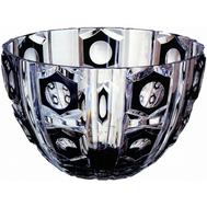 Ваза для фруктов Ajka Crystal Checker Light - 27см, черная - арт.64541/49876/47078, фото 1