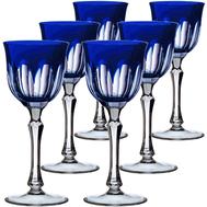 Набор рюмок Ajka Crystal Loreley, 70мл - 6шт, синие - арт.64587/51354/48332, фото 1
