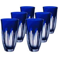 Стаканы хрустальные Ajka Crystal Loreley, 320мл - 6шт, синие - арт.64593/51354/48332, фото 1