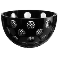 Ваза для фруктов Ajka Crystal Checker - 25см, черная - арт.64611/49876/48348, фото 1