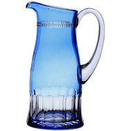 Кувшин высокий Ajka Crystal Heaven Blue, 1200мл, голубой, цветной хрусталь - арт.65467/51218/48214, фото 1