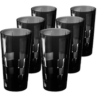Стаканы для воды Ajka Crystal Retro Black, 290мл - 6шт, черные - арт.65658/50464/47029, фото 1