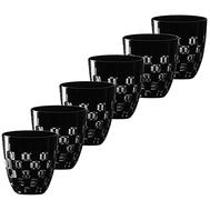 Стаканы низкие Ajka Crystal Domino, 300мл - 6шт, черные - арт.65688/51465/48525, фото 1