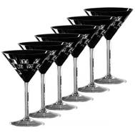 Бокалы для мартини Ajka Crystal Domino, 120мл - 6шт, черные - арт.65962/51465/48525, фото 1