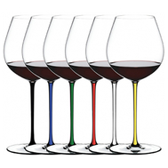 Набор фужеров для вина Old World Pinot Noir Riedel Fatto a Mano, 705мл, цветные ножки - 6шт - арт.7900/07, фото 1